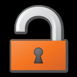 red, unlock icon