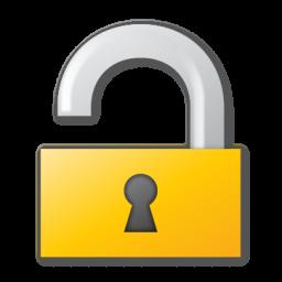 lock, yellow icon