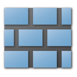 blue, wall icon