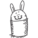 bin, empty, rabbit, recycle icon