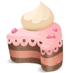 cake, cream, on, top icon