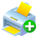 add, printer icon