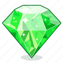 brilliant, diamond, emerald, gem, gemstone, gift, sapphire icon