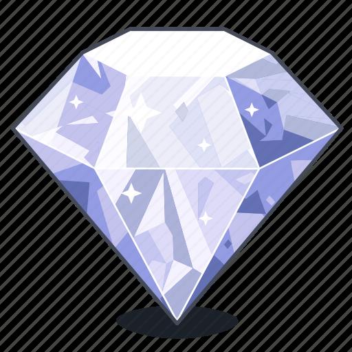 brilliant, diamond, expensive, gem, gemstone, gift, sapphire icon