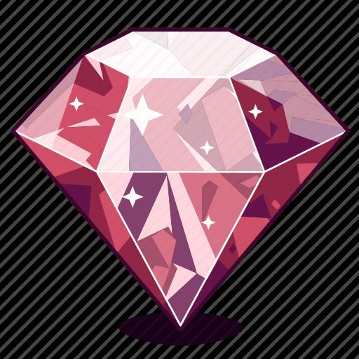 diamond, gem, gemstone, purple, sapphire icon