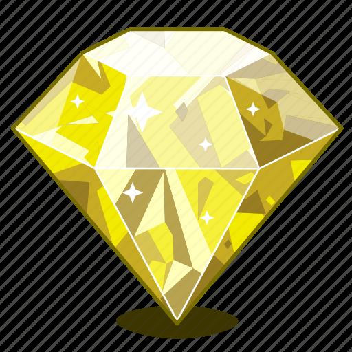Brilliant, diamond, gem, gemstone, gift, sapphire, yellow icon - Download on Iconfinder