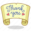 note, thank, thankful, you icon
