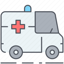 ambulance, emergency, first aid, healthcare, medical, treatment, urgent icon