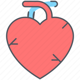 breath, cardiac arrest, health, heart, infarction, organ, respiratory icon