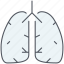 anatomy, breathe, lungs, organ, pulmonology, respiratory icon