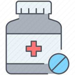 capsules, drugs, medicaments, medications, medicine, pharmacy, pills icon