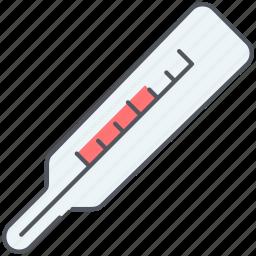 fever, healthcare, high, medicine, temperature, thermometer, treatment icon