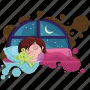 child, children, dreaming, nigth, sleep, working icon