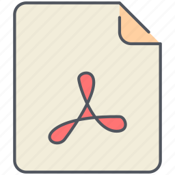 acrobat, document, extension, file, filetype, format, reader icon