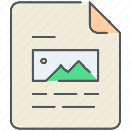 article, document, extension, file, filetype, format, paper icon
