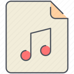 audio, extension, file, filetype, format, music, sound icon