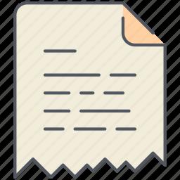 broken, destroy, extension, file, filetype, format, paper icon