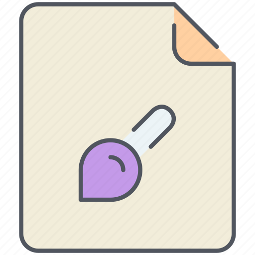 brush, draw, extension, file, filetype, format, paint icon
