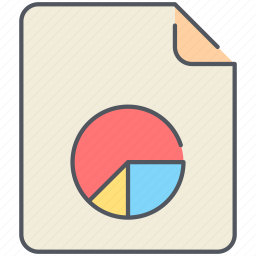 chart, extension, filetype, format, pie chart, report, stats icon