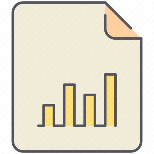 chart, extension, file, filetype, format, report, statistics icon