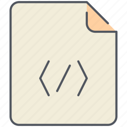 code, extension, file, filetype, format, front-end, html icon