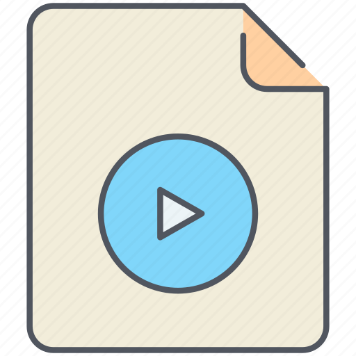 extension, file, filetype, film, format, movie, video icon