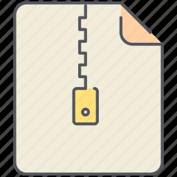 compress, file, filetype, format, rar, zip, zipped icon