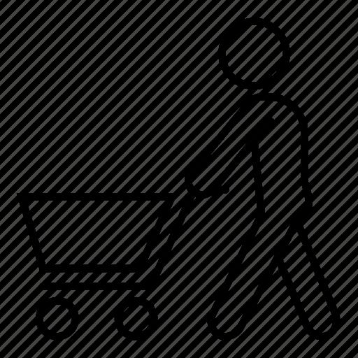 buy, cart, groceries, shopping, shopping cart icon