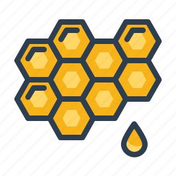 autumn, bee, candy, food, honey, honeycomb, sweet icon