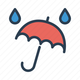 autumn, drops, protection, rain, storm, umbrella, weather icon