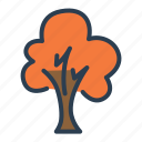 autumn, autumn season, fall, leaves, orange, plant, tree icon