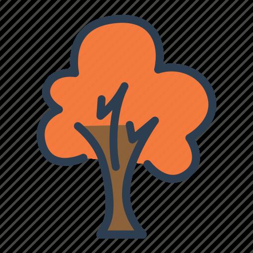 autumn, autumn season, fall, leaves, orange, plant, tree icon