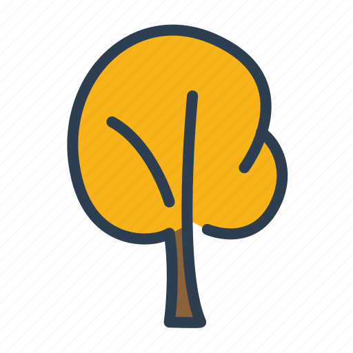 autumn, autumn season, fall, leaves, plant, tree, yellow icon