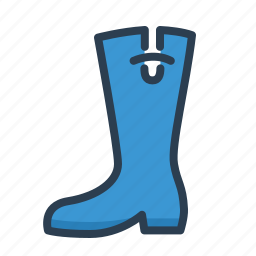autumn, boot, footwear, high boot, rainy weather, rubber, shoes icon
