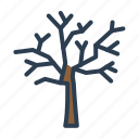 autumn, dead tree, fall, fallen leaves icon