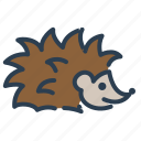 animal, autumn, hedgehog, spikes icon