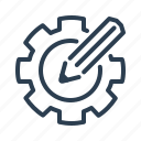 artisitic, creative, custom design, gear, optimization, pencil, settings icon