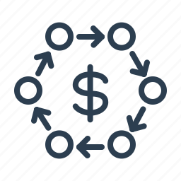 arrows, coins, conversion, currency, dollar, exchange, money icon