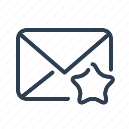 email, envelope, favorite, letter, mail, message, star icon