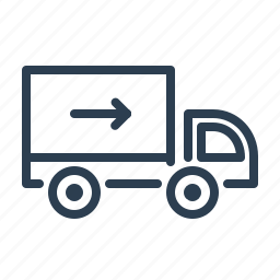 arrow, delivery, fast, shipping, transportation, truck, van icon