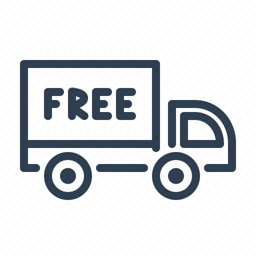 delivery, free, shipment, shipping, transportation, truck, van icon