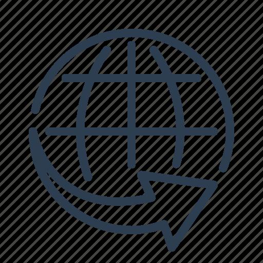 Arrow, ecmerce, global, international shipping, logistic ...