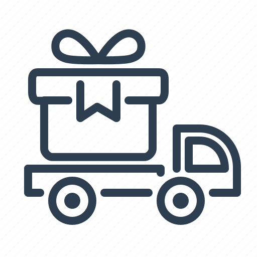 delivery, free, gift, present, shipping, shopping, truck icon