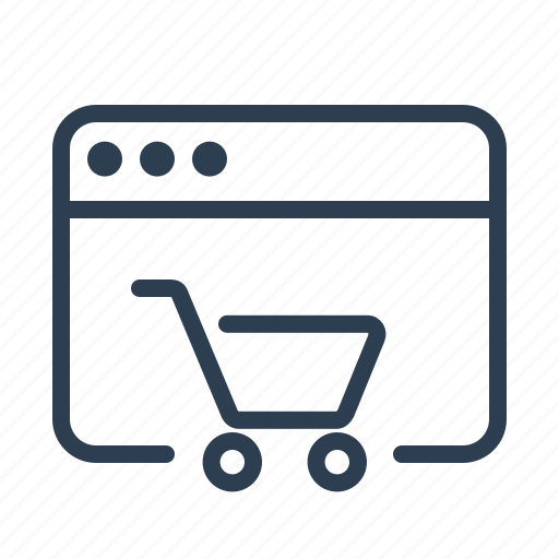 application, browser, cart, ecommerce, online store, shop, shopping icon