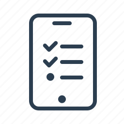 application, check list, list, mobile, order, shopping, todo icon