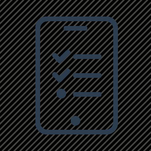 application, check list, list, mobile, order, shopping, todo icon