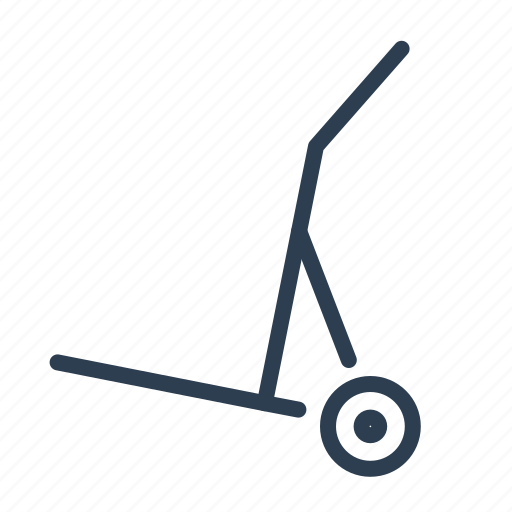 delivery, hand truck, logistics, luggage trolley, platform truck, shipping, transportation icon