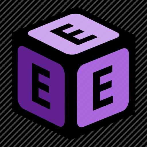 abc, alphabet, e, font, graphic, language, letter icon