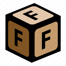 abc, alphabet, f, font, graphic, language, letter icon