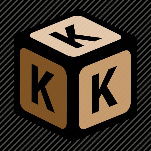 abc, alphabet, font, graphic, k, language, letter icon